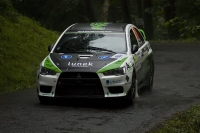 Patrik Rujbr - Richard Nesvadba, Mitsubishi Lancer Evo X - Rally Bohemia 2011