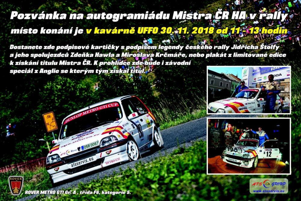 Od 11 do 13 hodin zde proběhne prezentace mistrovského titulu formou  autogramiády pro širokou veřejnost rallyové legendy Jindry Štolfy ecba8ce871c
